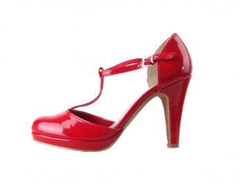 Marco Tozzi dámske elegantné lodičky - červené