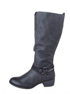 Marco Tozzi dámske čierne zimné čižmy