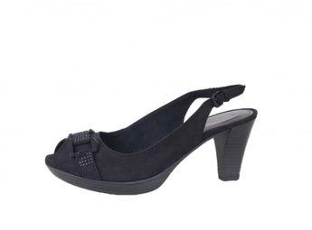 Marco Tozzi dámske semišové sandále - čierne