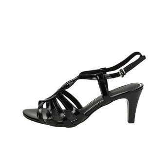 Marco Tozzi dámske elegantné sandále s remienkom - čierne