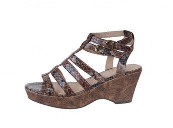 Marco Tozzi dámske sandále - hnedé