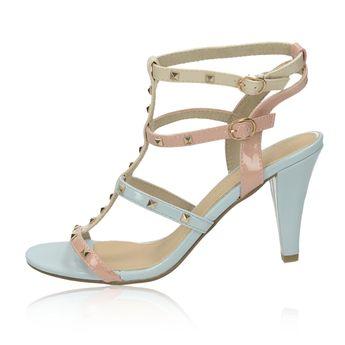 Marco Tozzi dámske sandále s ozdobnými prvkami - modré