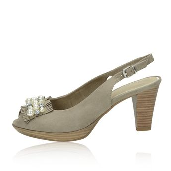 Marco Tozzi dámske sandále s ozdobnými prvkami - šedé