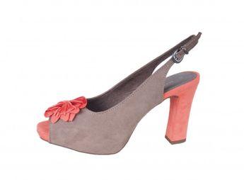 Marco Tozzi dámske semišové sandále - šedé