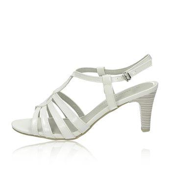 Marco Tozzi dámske štýlové sandále - biele