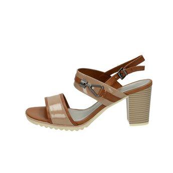 Marco Tozzi dámske štýlové sandále s remienkom - koňakové