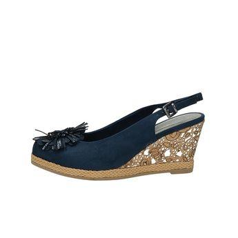 Marco Tozzi dámske štýlové sandále s remienkom - modré