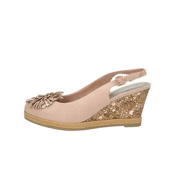 Marco Tozzi dámske štýlové sandále s remienkom - ružové