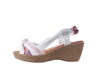 Marila dámske sandále na platforme - biele