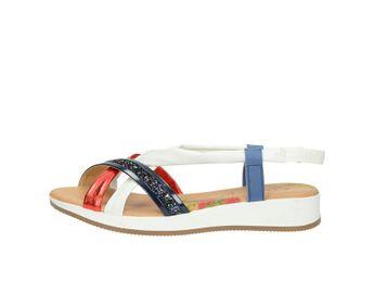 Marila dámske kožené sandále - multicolor