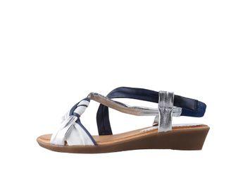 Marila dámske modro-biele sandále