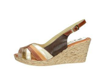 Marila dámske pohodlné sandále na klinovej podrážke - multicolor