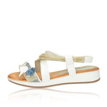 Marila dámske pohodlné sandále s ozdobnými prvkami - biele