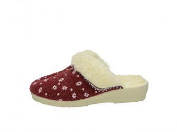Mjartan dámska domáca obuv - bordová