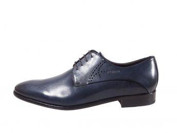 Daniel Hechter modré elegantné pánske kožené topánky