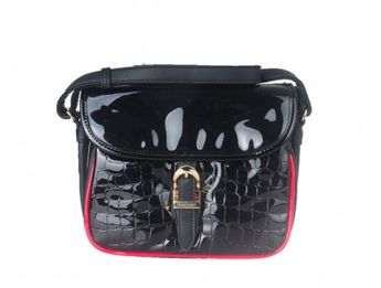 Monnari dámska čierna lakovaná kabelka