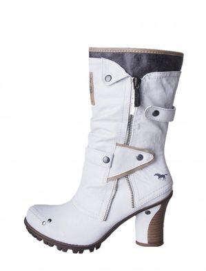 Mustang dámske biele zateplené čižmy
