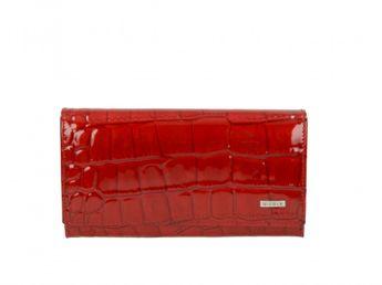Nicole dámska červená lakovaná kožená peňaženka