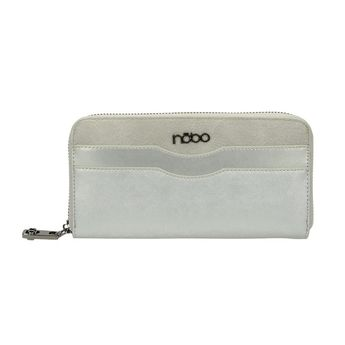 Nóbo dámska elegantná peňaženka - strieborná