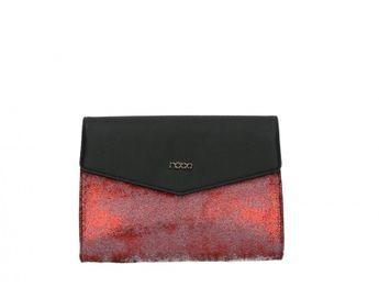 Nóbo dámska kabelka - červenočierna