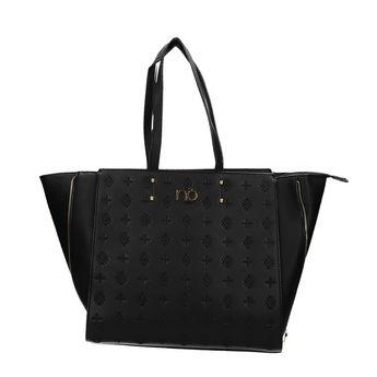 Nóbo dámska vzorovaná kabelka - čierna