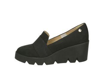 Olivia shoes dámske kožené poltopánky - čierne