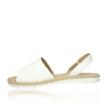 Olivia shoes dámske kožené sandále - biele
