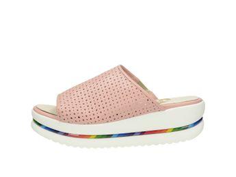 Olivia shoes dámske kožené šľapky - ružové