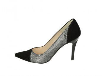 Olivia shoes dámske lodičky - čiernostrieborné