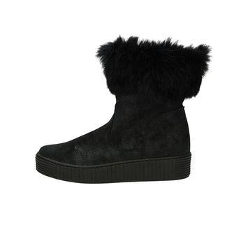 Olivia shoes dámske pohodlné nízke čižmy - čierne
