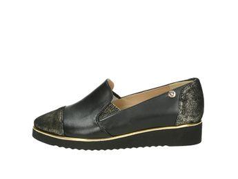 Olivia shoes dámske poltopánky na klinovej podrážke - čierne