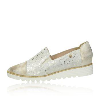 Olivia shoes dámske poltopánky na klinovej podrážke - zlaté