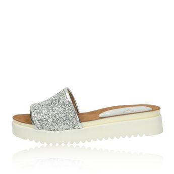 Olivia shoes dámske šľapky - strieborné