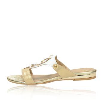 Olivia shoes dámske šľapky - zlatobiele