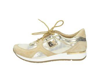 Olivia shoes dámske štýlové tenisky so šnúrovaním - béžové