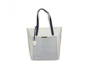 Pabia dámska bielo modrá praktická štýlová kabelka