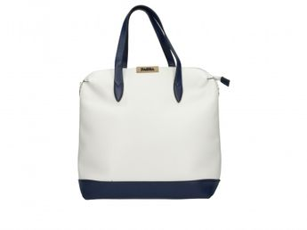 Pabia dámska bielo modrá štýlová kabelka