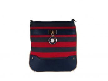 Pabia dámska červeno modrá športová praktická kabelka