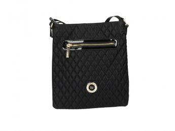 Pabia dámska čierna kabelka s prešívaným povrchom