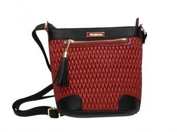 Pabia dámska kabelka - červenočierná