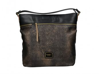 Pabia dámska kabelka - čiernozlatá