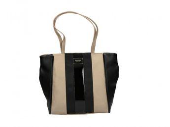 Pabia dámska kabelka čiernozlatá