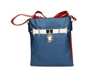 Pabia dámska kabelka - modro červená