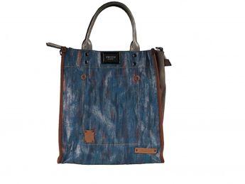 Pabia dámska modrá praktická kabelka