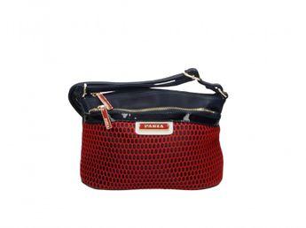 Pabia dámska modro červená praktická štýlová kabelka