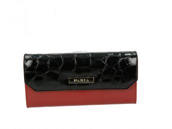Pabia dámska peňaženka - červenočierna
