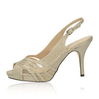 Pacomena dámske elegantné trblietavé sandále - zlaté