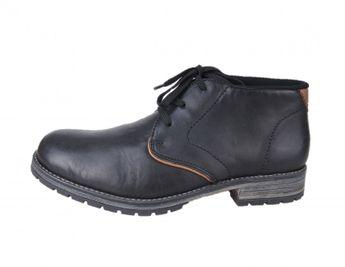 Rieker pánska členková obuv - čierna