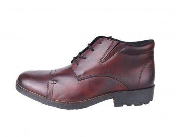 Rieker pánska hnedá členková zimná obuv