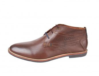 Bugatti pánska kožená obuv - hnedá